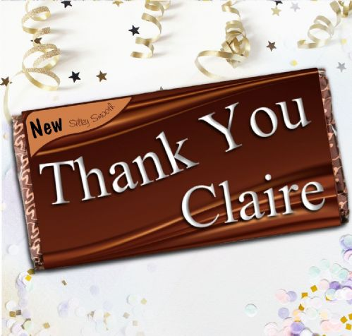 Personalised Thank You Milk Chocolate Bar - Gift N41